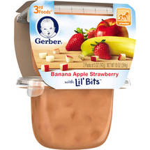 Gerber 3rd Foods Banana Apple Strawberry Fruit Puree with Lil' Bits