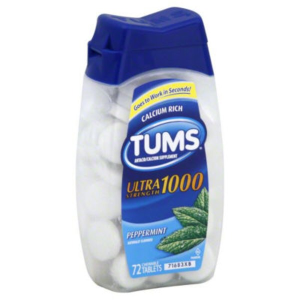 Tums Ultra Strength Mint Chewable Tablets Antacids