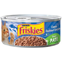 Purina Friskies Classic Pate Classic Seafood Entree Cat Food