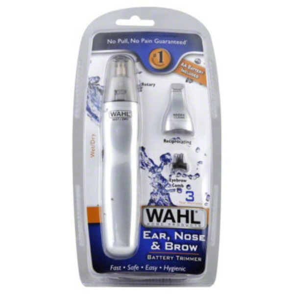 Wahl 2-Head Ear Nose & Brow Wet/Dry Trimmer