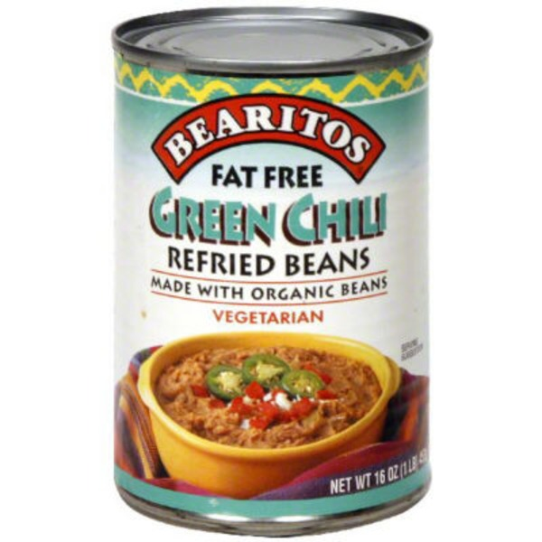 Bearitos Fat Free Green Chili Refried Beans
