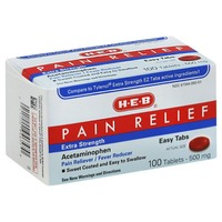 H-E-B Extra Strength Acetaminophen Pain Relief Easy 500 mg Tablets
