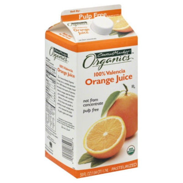 H-E-B Central Market Organics 100% Valencia Orange Juice Not From Concentrate Pulp Free