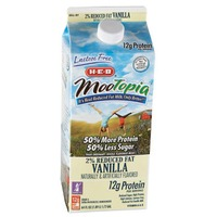 H-E-B MooTopia Lactose Free 2% Reduced Fat Vanilla Milk