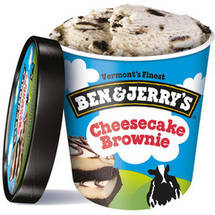 Ben & Jerry's Cheescake Ice Cream w/Cheesecake Brownie Chunks One Cheesecake Brownie Ice Cream
