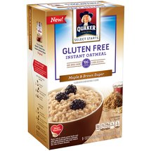 Quaker Select Starts Gluten Free Maple & Brown Sugar Instant Oatmeal