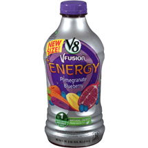 V8 Fusion + Energy Pomegranate Blueberry Vegetable & Fruit Juice