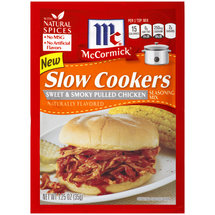 McCormick Slow Cookers Sweet & Smoky Pulled Chicken Seasoning Mix