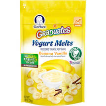 Gerber Graduates Yogurt Melts Banana Vanilla Freeze-Dried Yogurt & Fruit Snacks