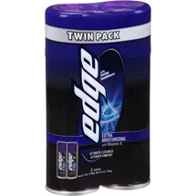Edge Extra Moisturizing Shave Gel (Pack of 2)