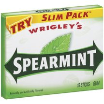 Spearmint Slim Pack Chewing Gum
