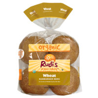 Rudi's Organic Bakery Wheat Hamburger Buns