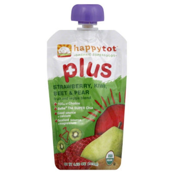 Happy Tot Kiwi Beet & Pear Strawberry Pouch