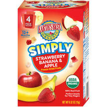 Earth's Best Organic Simply Strawberry Banana & Apple Freeze Dried Fruits