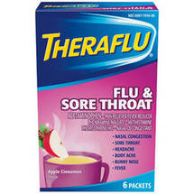 Theraflu Flu & Sore Throat Apple Cinnamon Flavor Lipton Tea