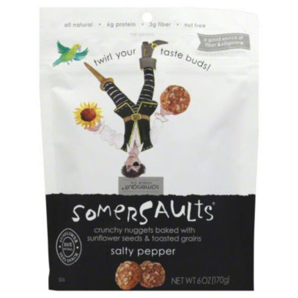 Somersaults Snack Co Crunchy Sunflower Seed Bites Salt & Pepper