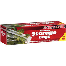 Smart Shopper Quart Size Storage Bags