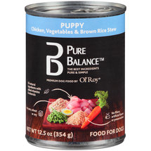 Pure Balance Chicken Vegetables and Brown Rice Stew Puppy Canned Dog Food