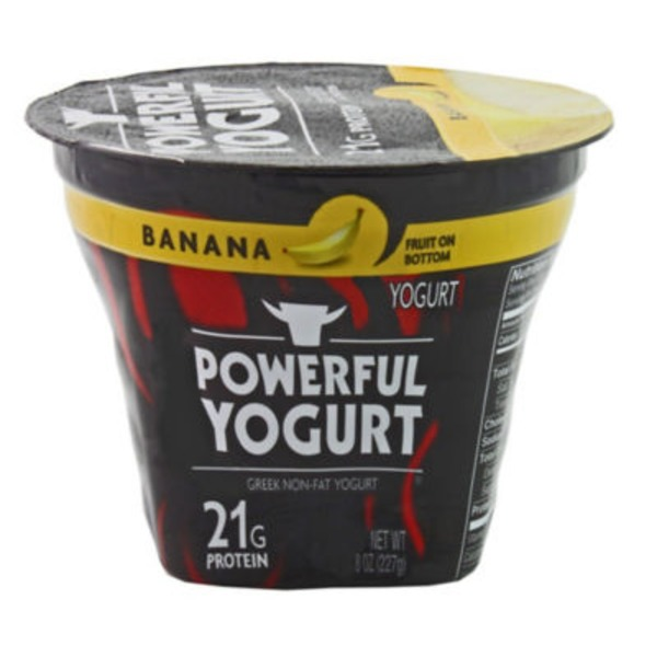 Powerful Yogurt Banana Greek Nonfat Yogurt