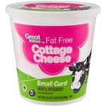 Great Value Fat Free Small Curd Cottage Cheese