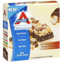 Atkins Advantage Dark Chocolate Almond Coconut Crunch Bar