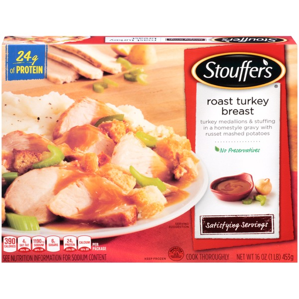 kroger stouffer u0026 39 s satisfying servings turkey medallions
