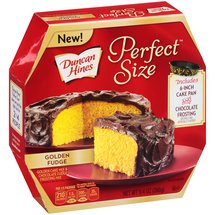 Duncan Hines Perfect Size Golden Fudge Golden Cake Mix & Chocolate Fudge Frosting Mix