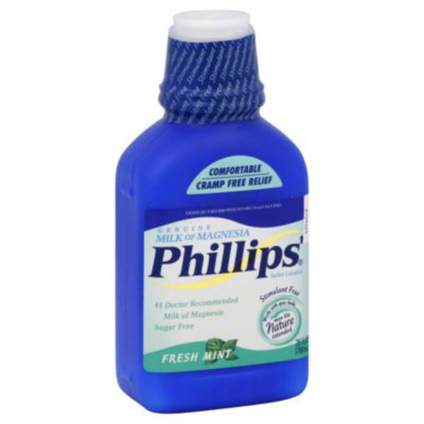 Phillips Gourmet Milk of Magnesia Fresh Mint Saline Laxative