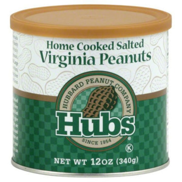 Hubs Home Cooked Salted Virginia Peanuts