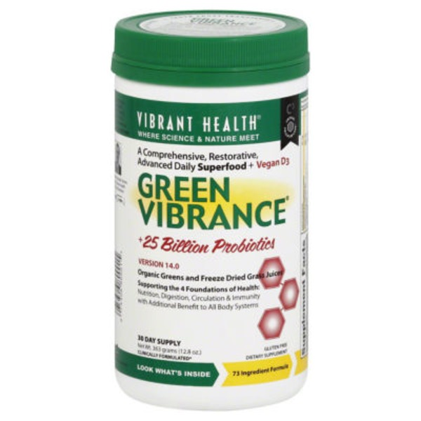 Vibrant Health Green Vibrance +25 Billion Probiotics Advanced Daily Superfood