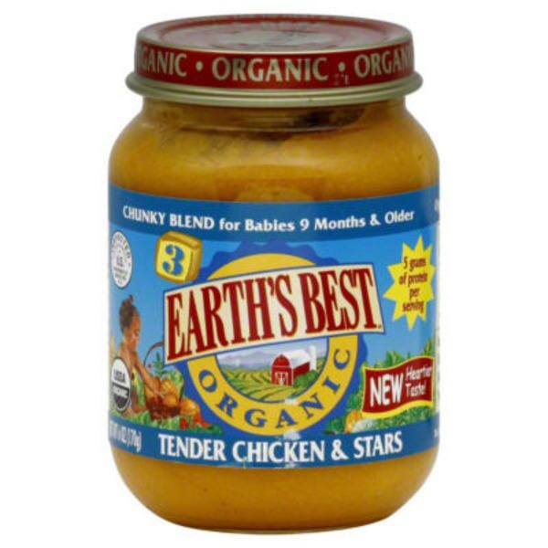 Earth's Best Organic Stage 3 Tender Chicken & Stars Chunky Blend