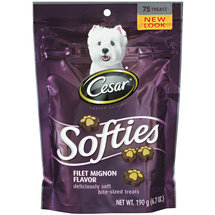 Cesar Canine Cuisine Softies Dog Treats Filet Mignon Flavor