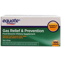 Equate Gas Relief & Prevention Food Enzyme Dietary Supplement