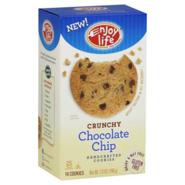 Enjoy Life Handcrafted Crunchy Cookies Chocolate Chip