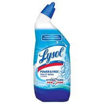 Lysol Power & Free Toilet Bowl Cleaner with Hydrogen Peroxide Cool Spring Breeze Scent