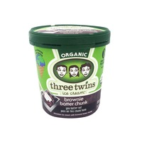 Three Twins Ice Cream, Organic, Brownie Batter Chunk