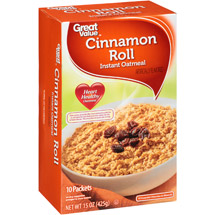 Great Value Cinnamon Roll Instant Oatmeal
