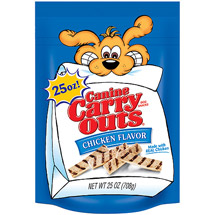 Canine Carry Outs Chicken Flavor Dog Snacks