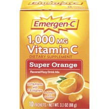 Emergen-C Super Orange Flavored 1000mg Vitamin C Supplement Fizzy Drink Mix