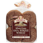 Arnold 100% Whole Wheat Whole Grain Hamburger Buns