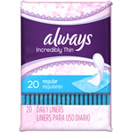 Always Thin Regular Unscented Liners
