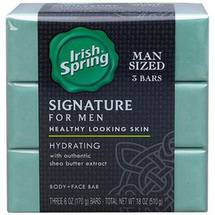 Irish Spring Signature For Men Hydration Deodorant Bar Soap