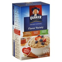 Quaker Maple & Brown Sugar/Cinnamon & Spice/Apples & Cinnamon Instant Oatmeal