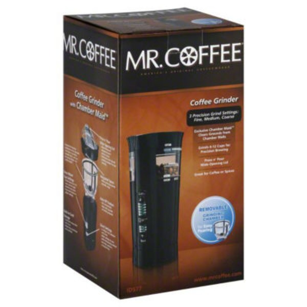 Mr. Coffee Black Coffee Grinder With Chamber Maid