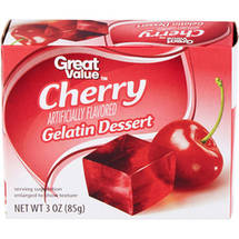 Great Value Cherry Gelatin Dessert