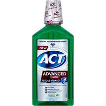 ACT Advanced Care Plaque Guard Clean Mint Antigingivitis/Antiplaque Mouthwash