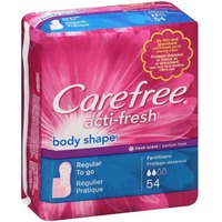 Carefree Acti-Fresh Body Shape Regular Fresh Scent To Go Panty Liners