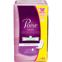 Poise Maximum Absorbency Long Incontinence Pads