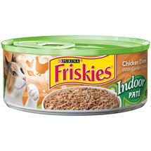 Friskies Wet Cat Food Indoor Pate Chicken Dinner with Garden Greens