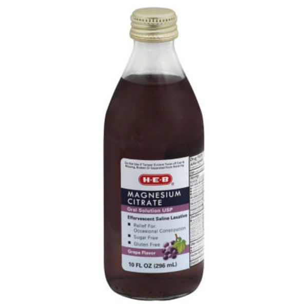 H-E-B Magnesium Citrate Grape Flavor Liquid